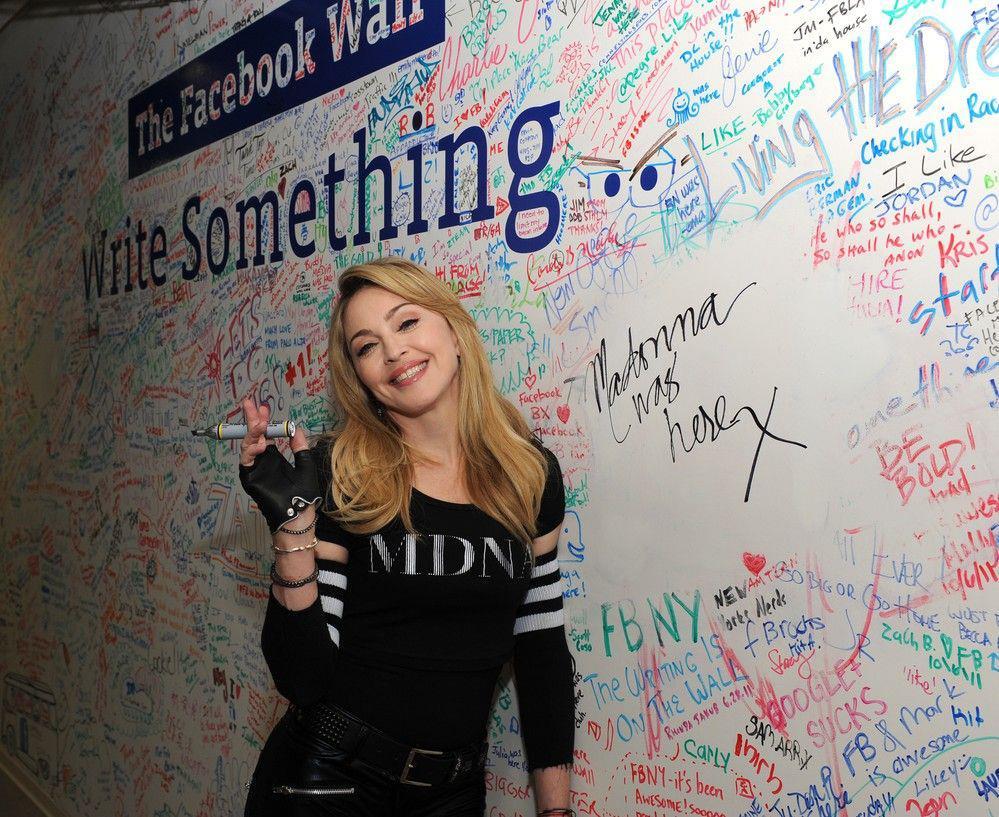Madonna em chat com Jimmy Fallon no Facebook
