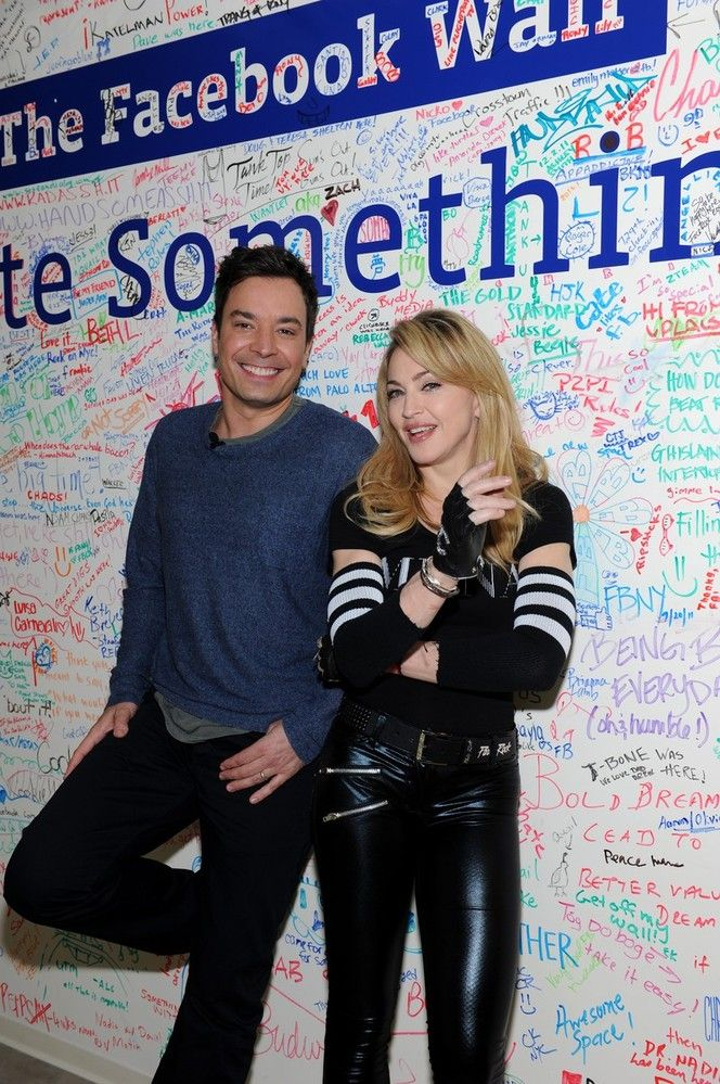 Madonna em chat com Jimmy Fallon no Facebook