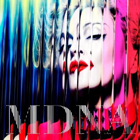 Capa da edição deluxe do novo álbum de Madonna, MDNA