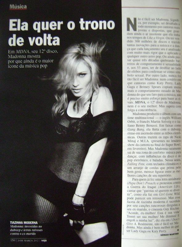 Madonna - Revista Veja 2012 - MDNA