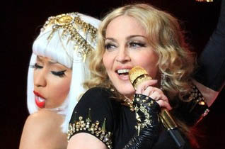 Madonna e Nicki Minaj no Super Bowl 2012