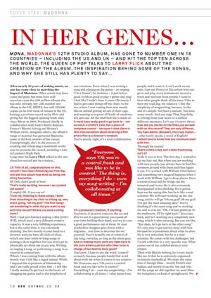 Madonna Interview Out In The City UK