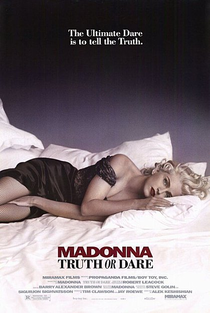 Madonna - Na Cama Com Madonna - Truth Od Dare - Cartaz